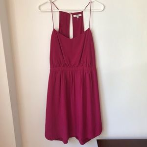 Madewell Silk Daylight Dress in Dark Rosette
